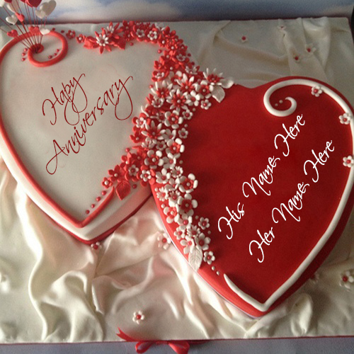 Anniversary Cake Images With Name And Photo Editor : Anniversary Wishes For Couples Name Edit Online wishes ...