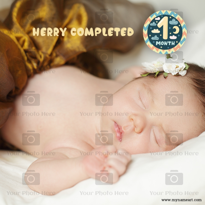 Happy One Month Baby Photo Frame