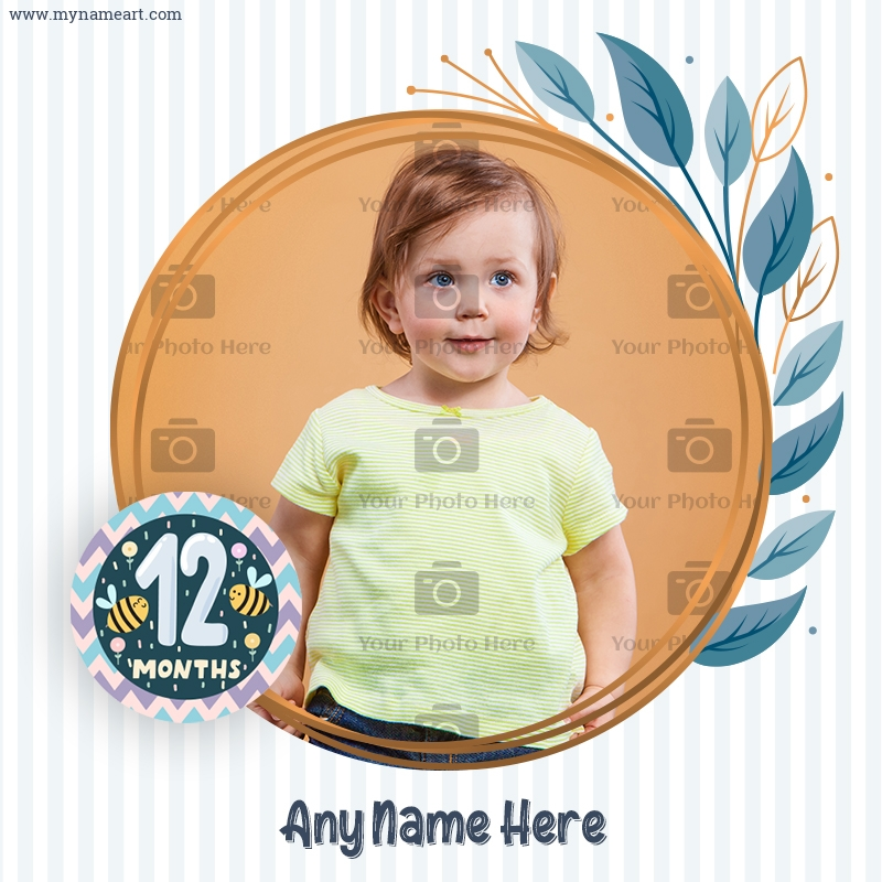 12 Months Milestone Photo Maker For My Cute Baby