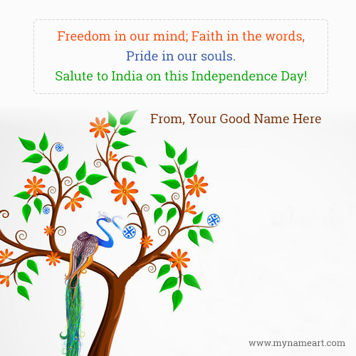 15 August Freedom Quotes New Picture With Name