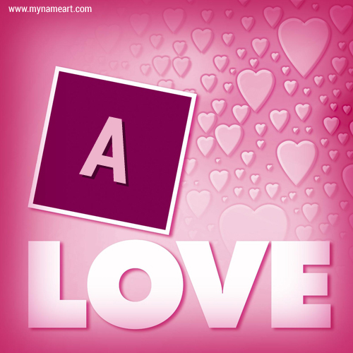 Alphabet Letter On Love Greeting Card