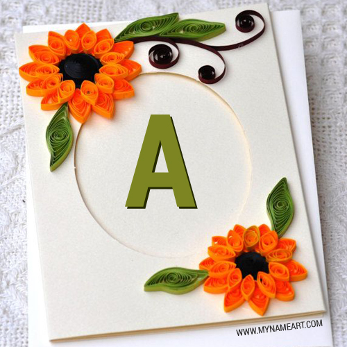 Alphabet On Card