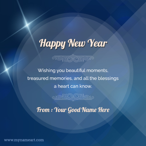 awesome happy new year wishes in english name picture