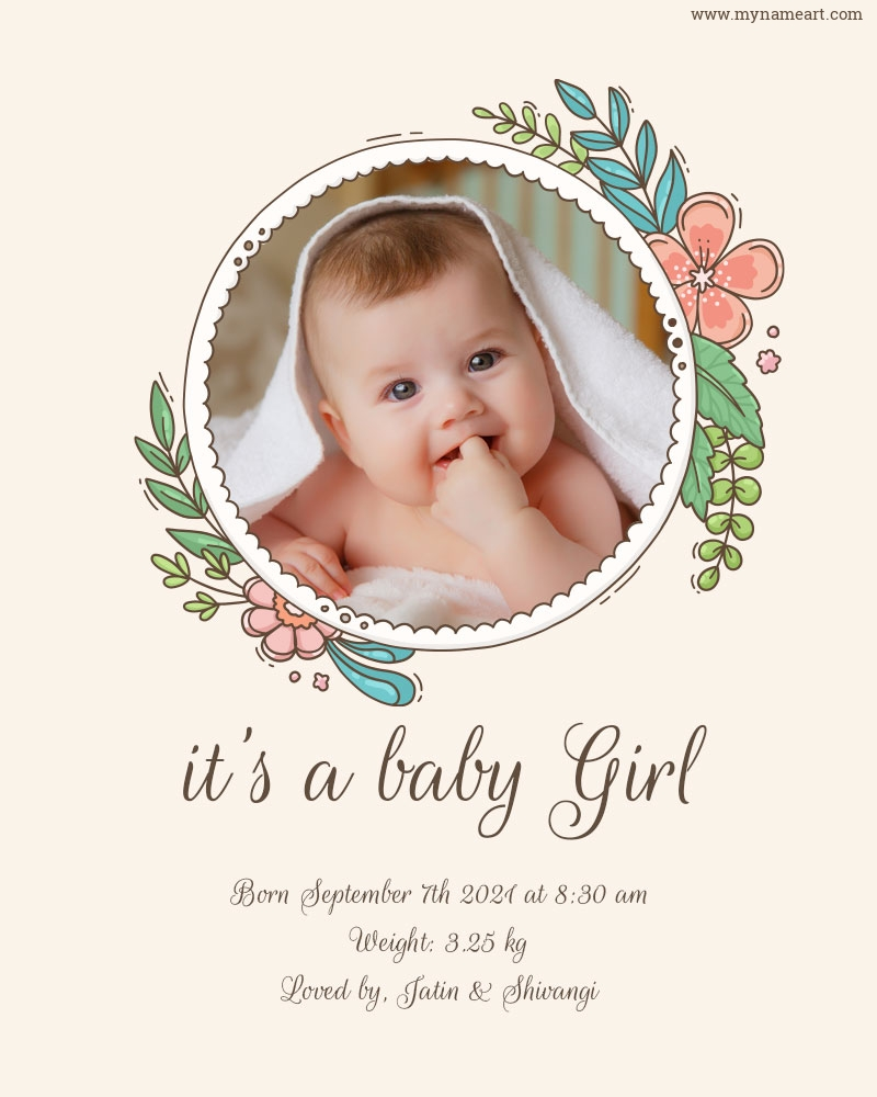 I Am Blessed With A Baby Girl Announcement