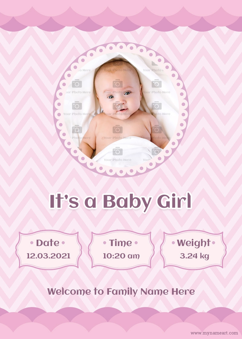 Announcement Status For New Born Baby Girl