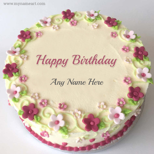 Wondrous Birthday Cake With Name Edit 2020 Personalised Birthday Cards Epsylily Jamesorg