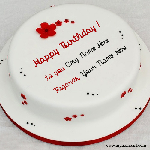 Write Name On Cake And Download For Friend wishes greeting card