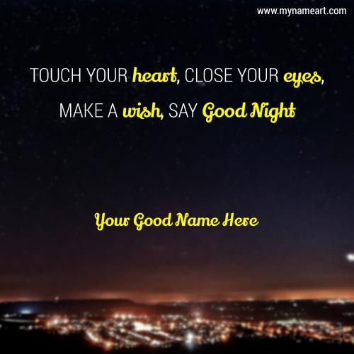 Write Name On Good Night Sweet Dream Greeting Card
