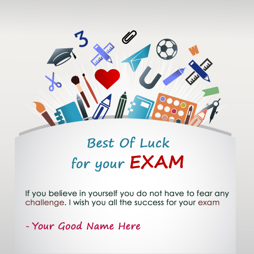 Best Of Luck For Exam