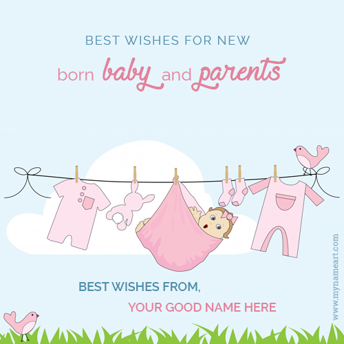 New Born Baby Wishes Congratulation Message With Name