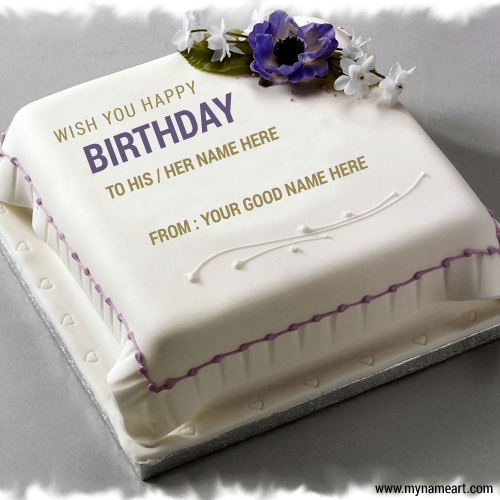 Wish You Happy Birthday Cake With Hisher Name