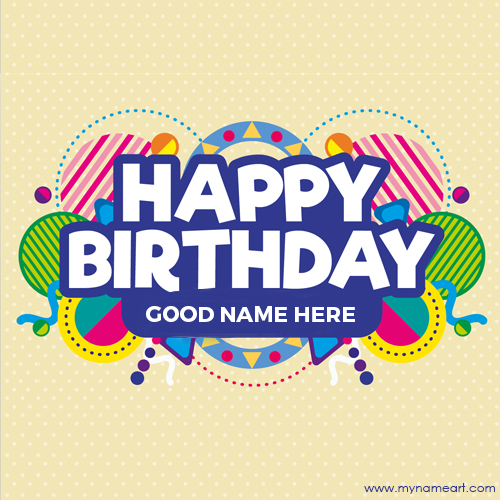 Birthday Wishes Card With Name Editing Option For Kids