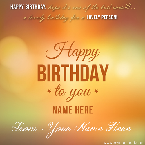 Simple Birthday Card With Name