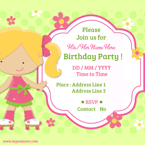 Child Birthday Party Invitations Cards – Birthday Invitation Maker