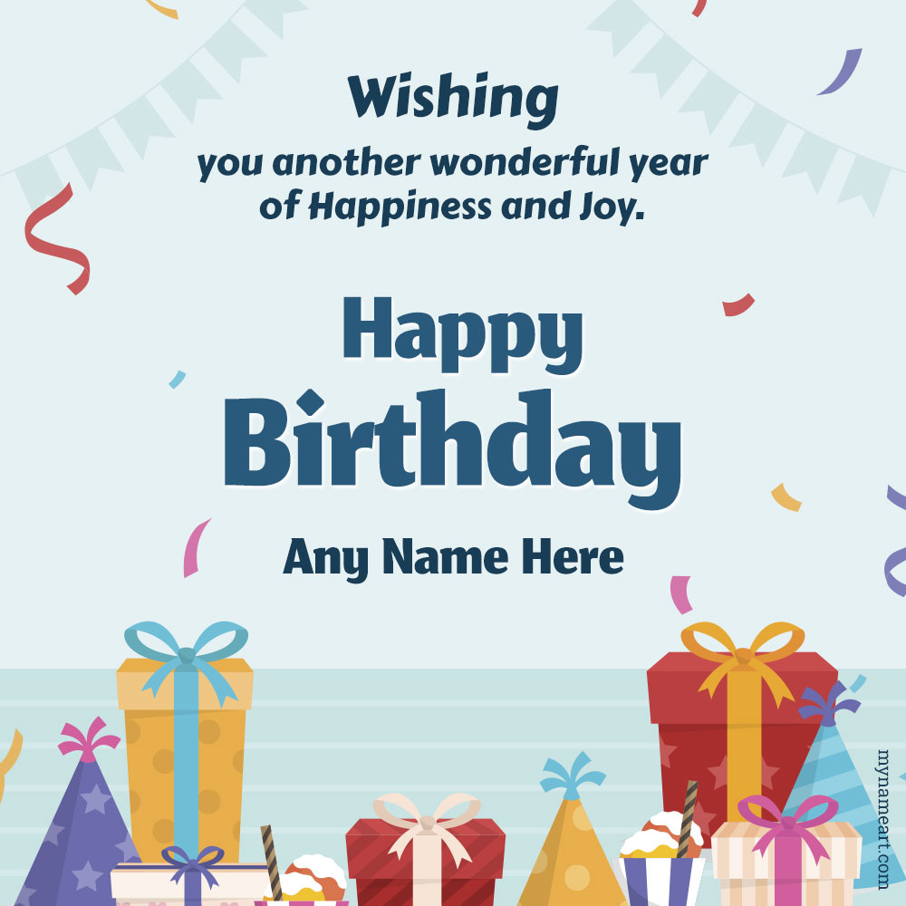 Happy Birthday Wishes Images With Name Birthday Card Maker Online