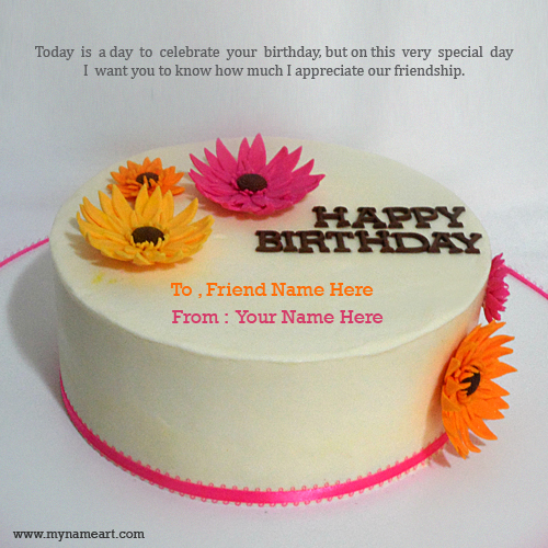 Birthday wishes cake for best friend wishes greeting card create card m4hsunfo