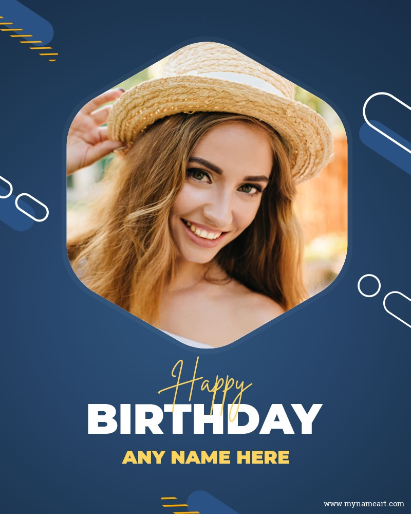 Birthday Wishes With Photo Card For Social Media Post