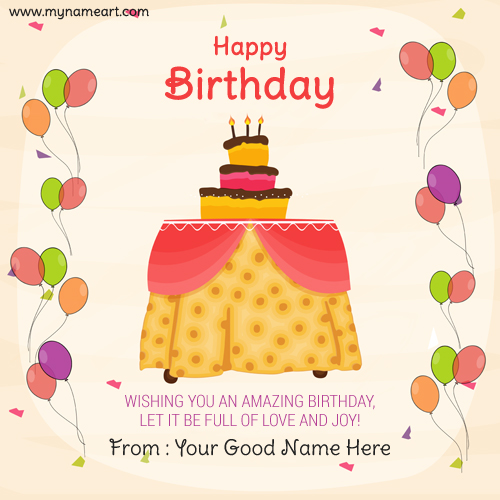 Party Birthday Cake Image Editor With Name