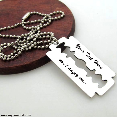 Blade Necklace With Name