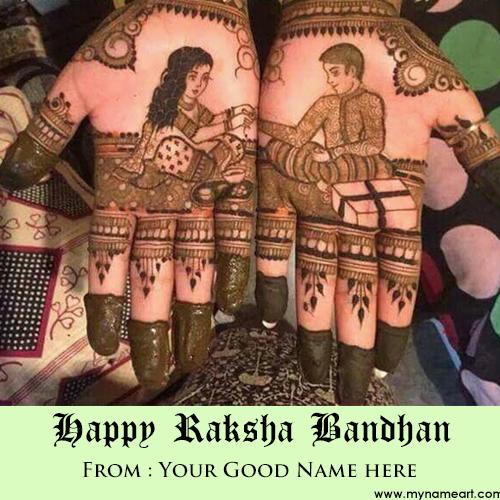 Write Name On Rakhi Mehndi Designs Image Online
