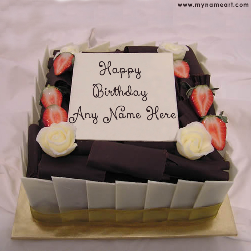 Write Friend Name On Real Birthday Cake Picture