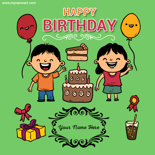Create Birthday Wishes Card For Kidschildrens – Birthday Cards for Kids
