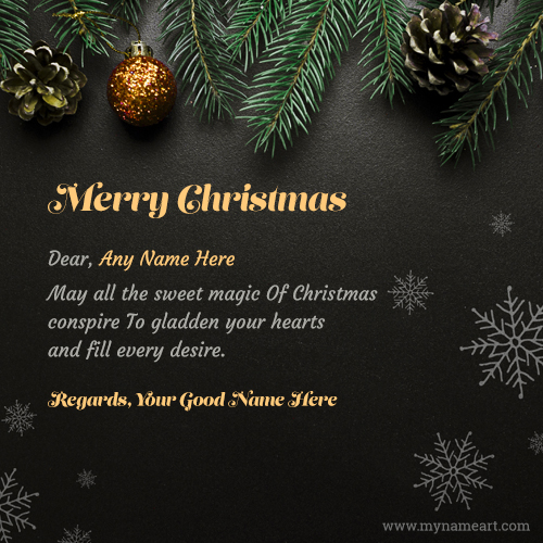 Sweet And Short Christmas Wishes Messages Card