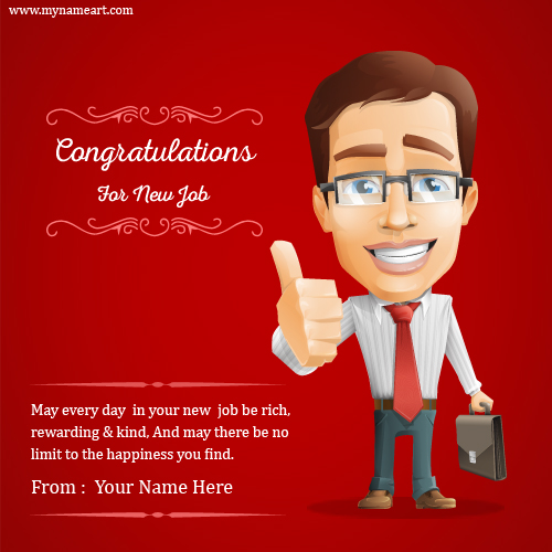 Congratulations Quotes New Job Position: Write Name On Congratulations On Your Promotion Greeting