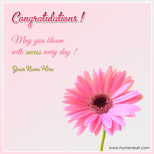Congratulations on success with quotes and name wishes greeting card create card m4hsunfo