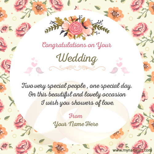 Make Wedding Congratulations Wishes Quotes Card