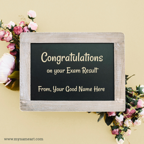 Congratulations Card For Exam Result