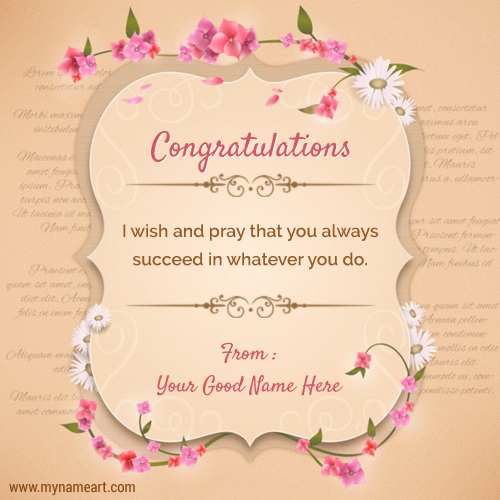 Congratulations Quotes Sayings With Your Name Create – Wedding Greeting Cards Quotes