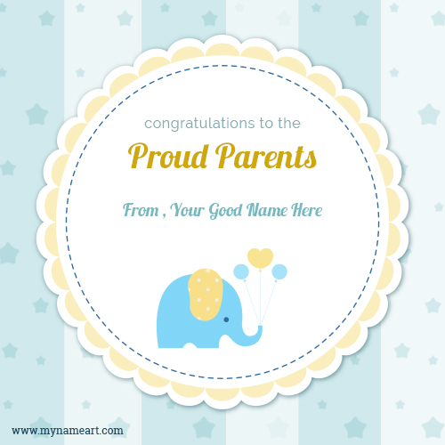 Congratulation To New Parents With Name