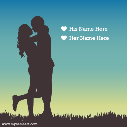 Cute Couple Hug With Name