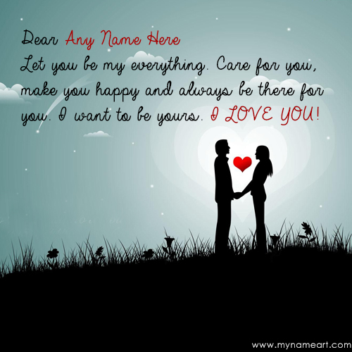 Sweet Love Couple Images With Quotes: Write Dear Nickname In Couple Quotes Whatsapp Dp