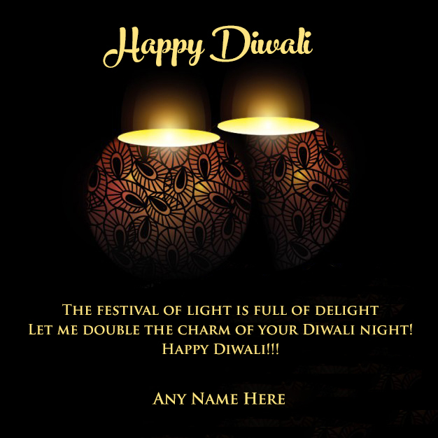 Write Your Name On Diwali Wishes Cute Candles Ecrad Make Online