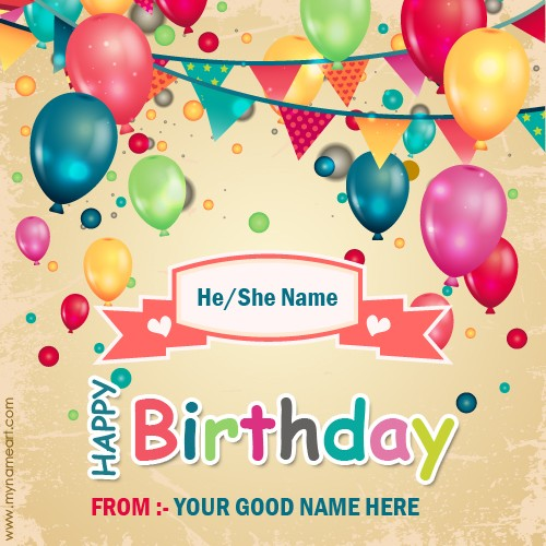 Sweet Birthday Wishes Quotes With Name – Birthday Greeting Cards with Name