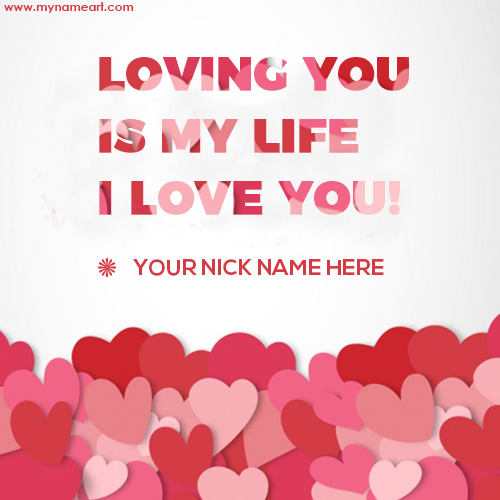 My Name With Love Photo Download For Free
