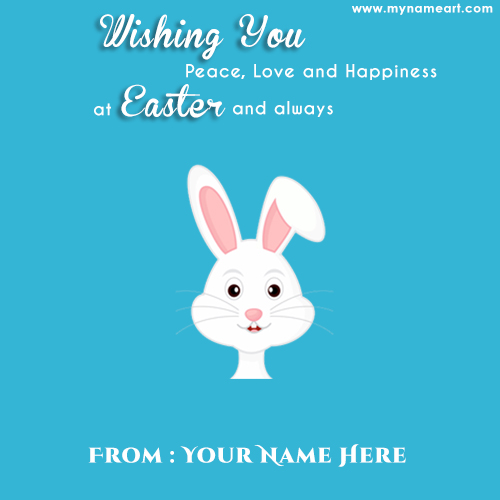Simple easter day quotes with rabbit wishes card wishes greeting card simple easter card with bunny and quotes m4hsunfo