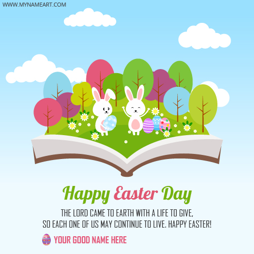 Happy Easter Day Bunny Greeting Card