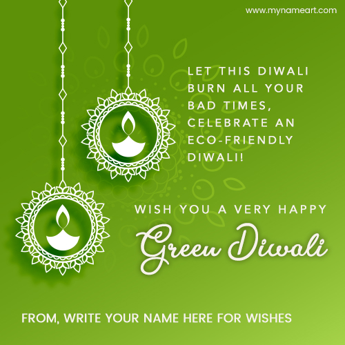 write your on eco friendly diwali greetings card