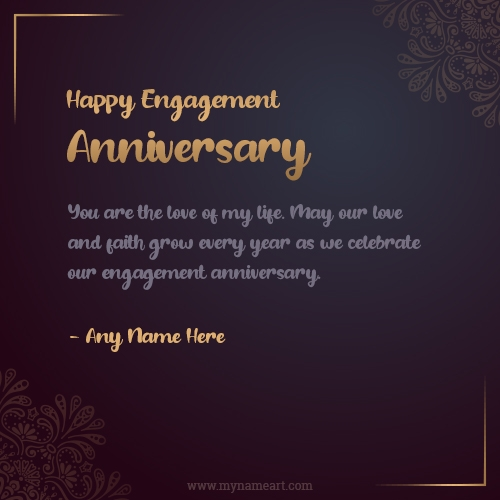 Engagement Anniversary Wishes For Wife Or Husband