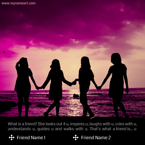 Best Friendship Quote Picture With Friend Name | wishes greeting card