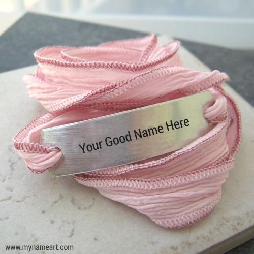 Silk Wrap Bracelet With Girls Nickname