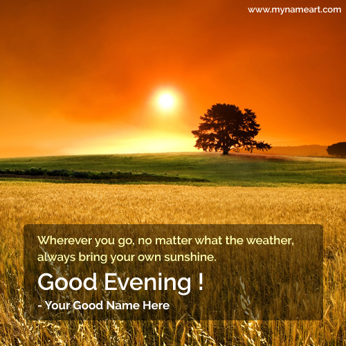 Good Evening Natural Scene Name Pictures
