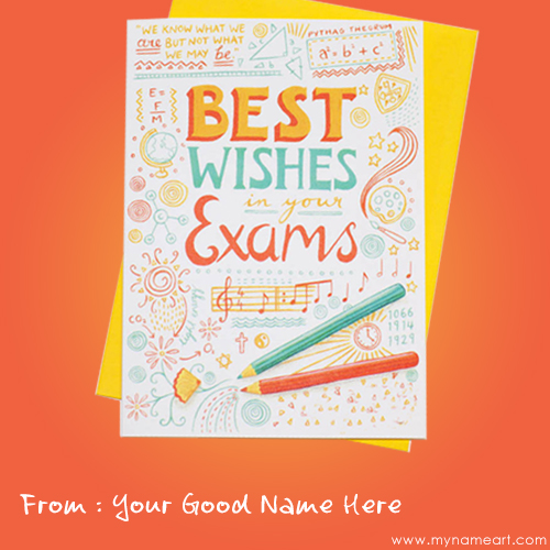 Marvelous Create Card With Exam Best Wishes Cards