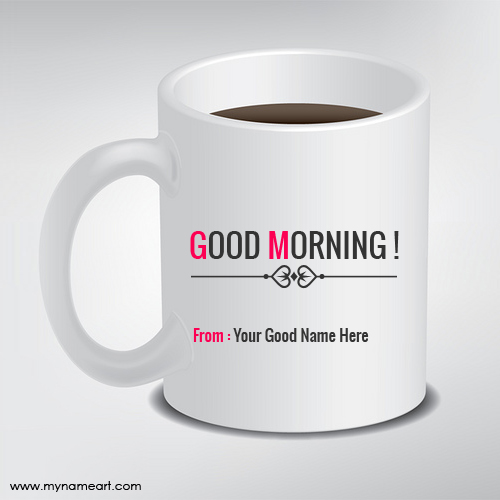 Good Morning Wishes On Coffee Cup Picture