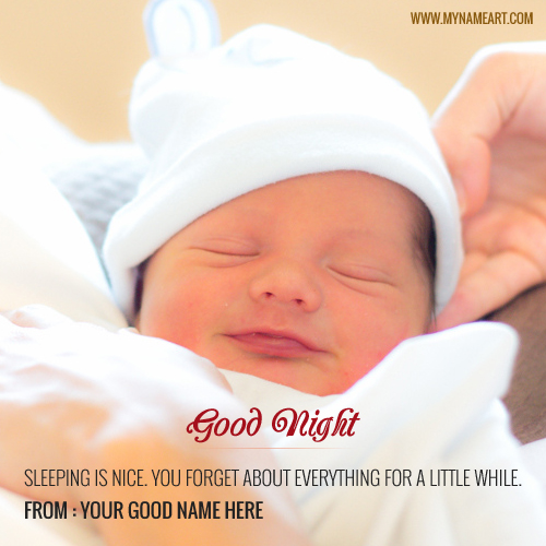 Make Online Good Night Cute Baby Wishes Quotes Picture