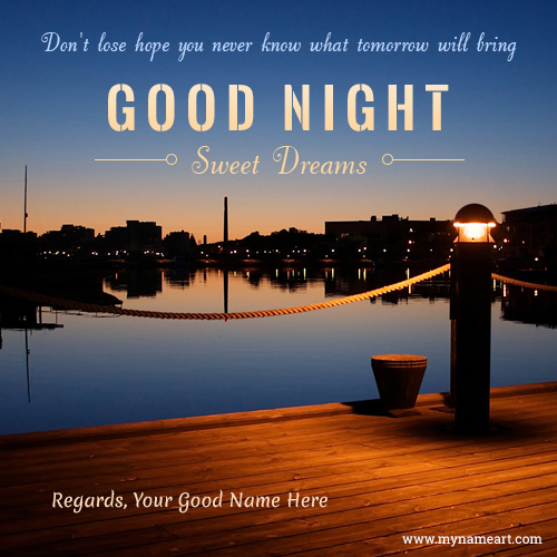 Good Night Have A Sweet Dreams Custom Name Image