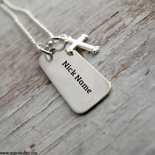 My Name Edit On Hand Stamped Necklace Image